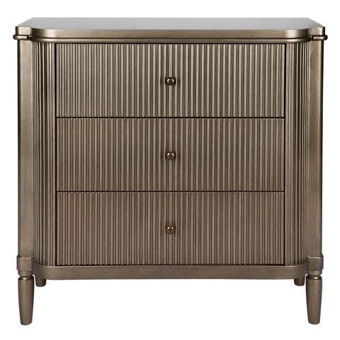 Arielle 3 Drawer Chest - Antique Gold
