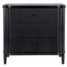 Arielle 3 Drawer Chest - Black