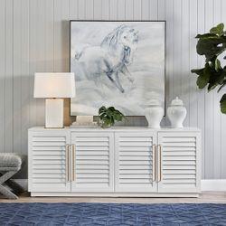 Dominique Alabaster Table Lamp - White