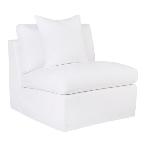 Birkshire Slip Cover Occasional Chair - Off White Linen