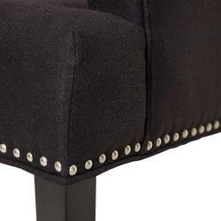 Bentley Dining Arm Chair - Black Linen