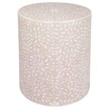 Mia Bone Inlay Side Table - Blush