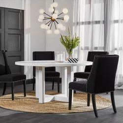 Braydon Dining Chair - Black Linen