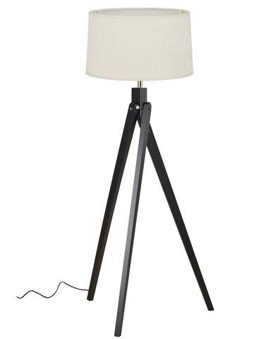 Inigo Floor Lamp Black w Natural Shade