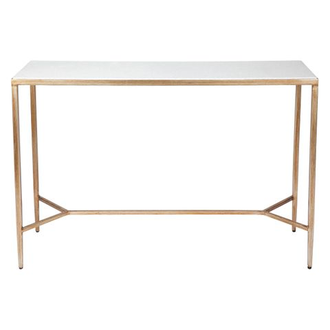 Chloe Marble Console Table - Small Gold