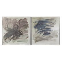 Grey Invasion Hand Painted Art - Set of 2