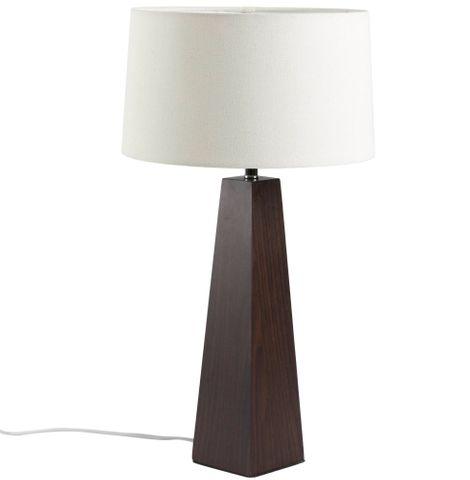Playa Table Lamp Walnut w Natural Shade