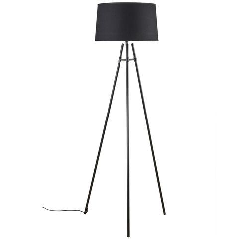 Delphi Floor Lamp Black w Black Shade