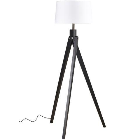 Inigo Floor Lamp Black w White Shade