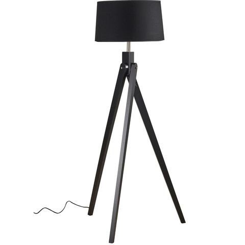 Inigo Floor Lamp Black w Black Shade