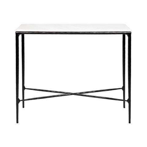 Heston Marble Console Table - Small Black