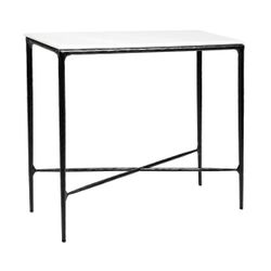 Heston Marble Console Table - Small Black