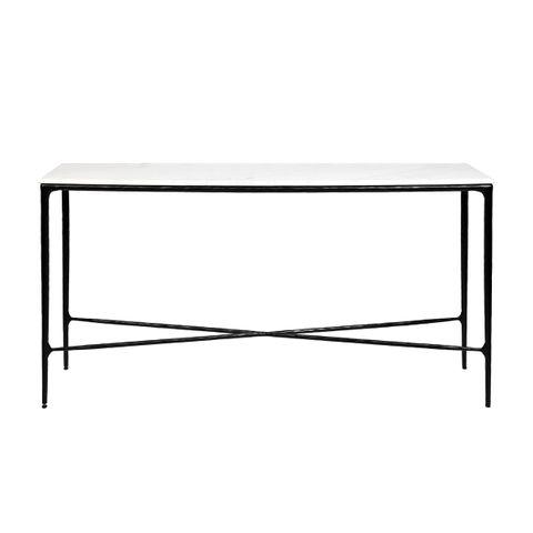 Heston Marble Console Table - Medium Black
