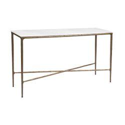 Heston Marble Console Table - Medium Brass
