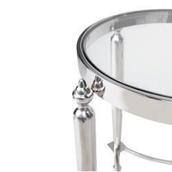 Jak Glass Side Table - Nickel