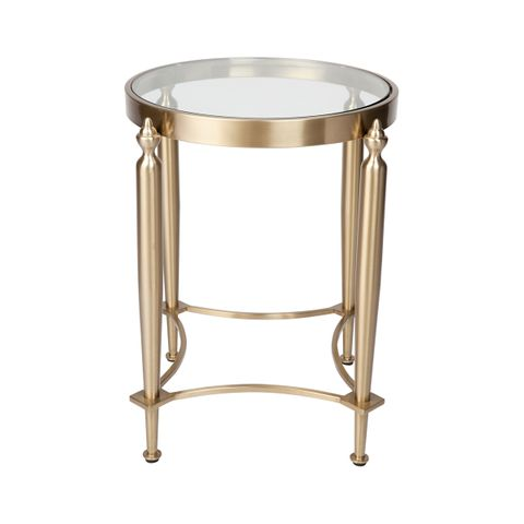 Jak Glass Side Table - Gold