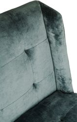 Duchess Tufted Occasional Chair - Bluebell Velvet