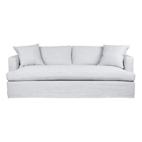 Birkshire 3 Seater Slip Cover Sofa - Grey Linen