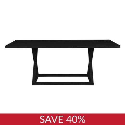 Deccan Dining Table - 2m Black