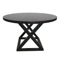 Deccan Round Dining Table - 1.2m Black