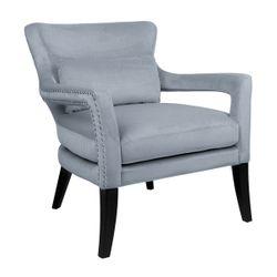 Blake Arm Chair - Dove Grey Velvet