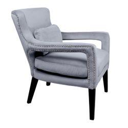 Blake Occasional Chair - Dove Grey Velvet