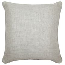 Libby Square Feather Cushion - Natural Linen