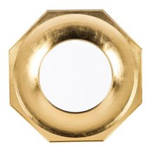 Zander Hexagonal Mirror - Gold