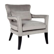 Blake Occasional Chair - Grey Velvet
