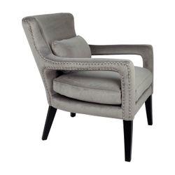Blake Arm Chair - Grey Velvet