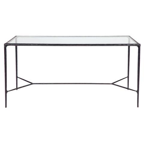 Heston Glass Desk - Black