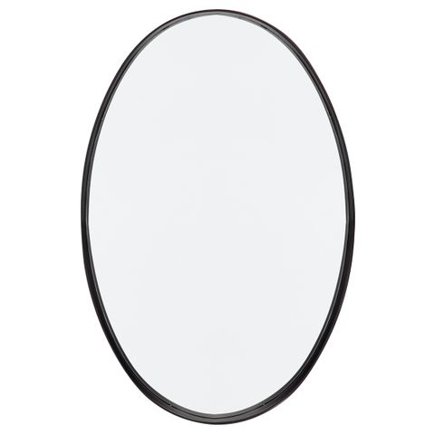 Lucille Oval Wall Mirror - Black