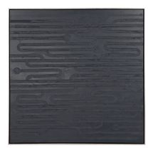 Clean Lines Oil On Canvas Painting - Black