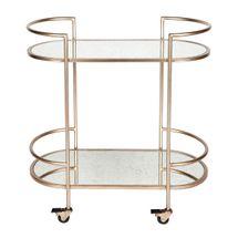 Southside Mirror Bar Cart - Antique Gold