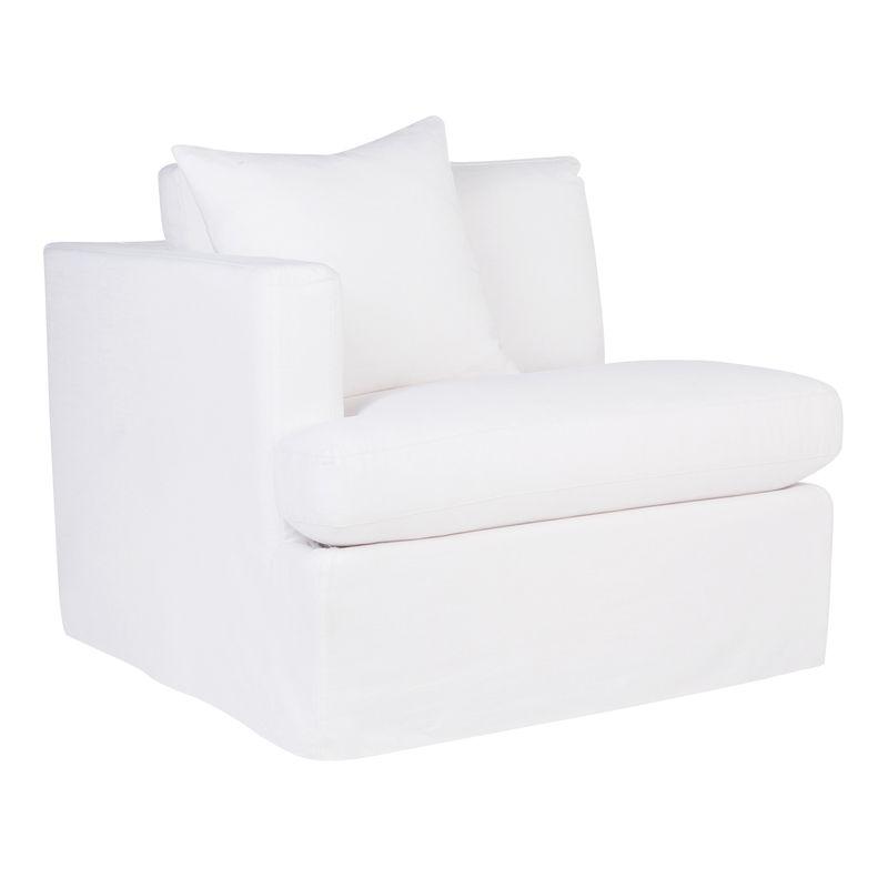 Birkshire Slip Cover Left Arm Facing Seat  - White Linen