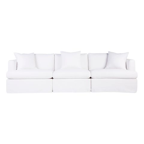 Birkshire Slip Cover Modular Sofa - White Linen Option 3