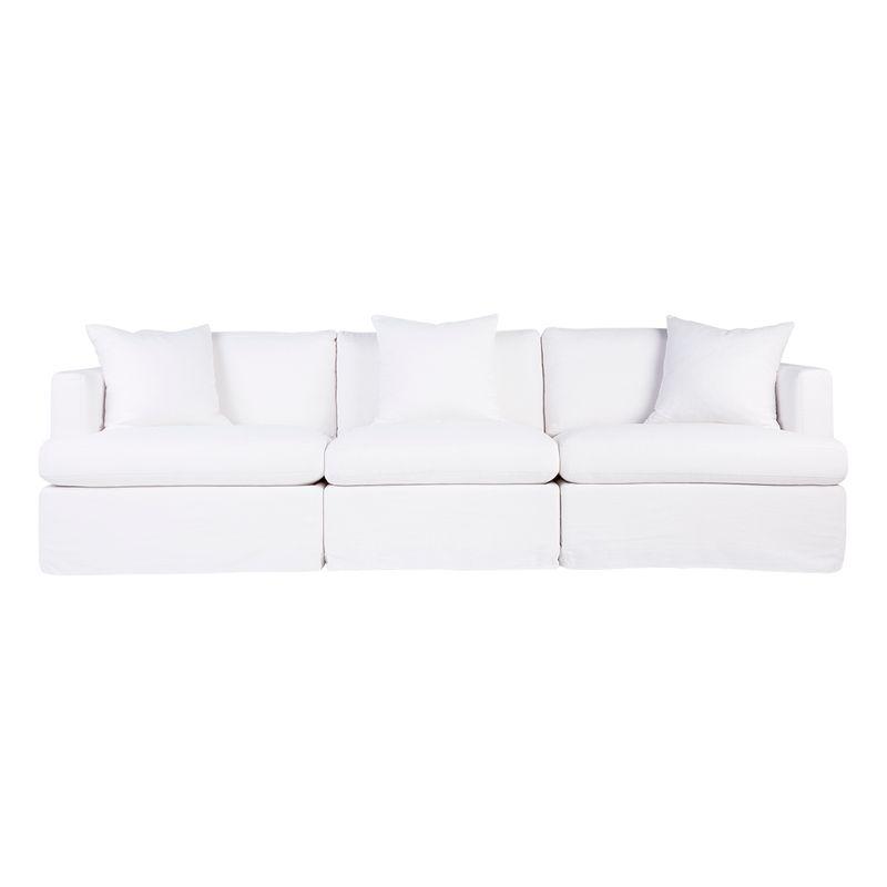 Birkshire Slip Cover Modular Sofa - White Linen Option 3