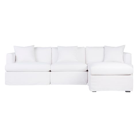 Birkshire Slip Cover Modular Sofa - White Linen Option 6
