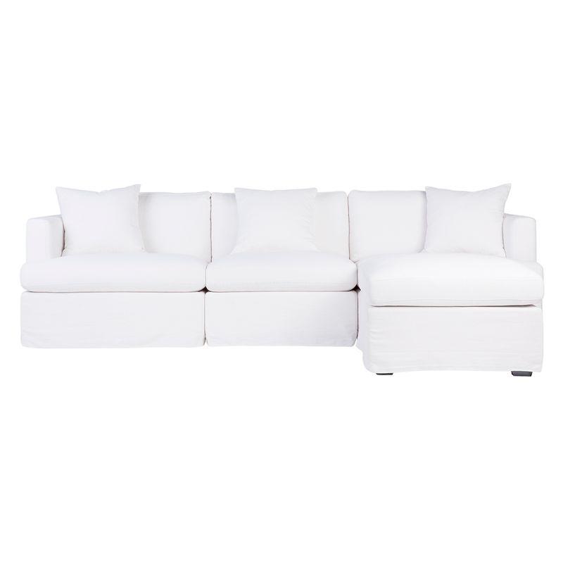Birkshire Slip Cover Modular Sofa - White Linen Option 6