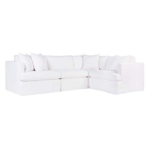 Birkshire Slip Cover Modular Sofa - White Linen Option 1
