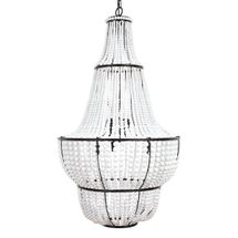 Sierra Beaded Chandelier - Black/White