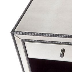 Brentwood Mirrored Bedside Table - Small