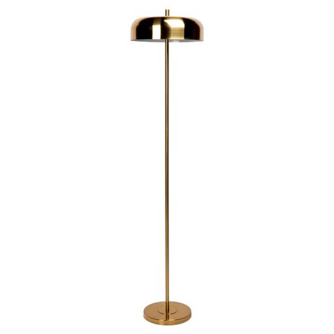 Sachs Floor Lamp - Brushed Brass w Brushed Brass Shade