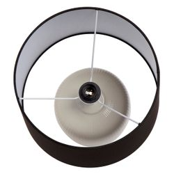 Belize Table Lamp - White with Black Shade