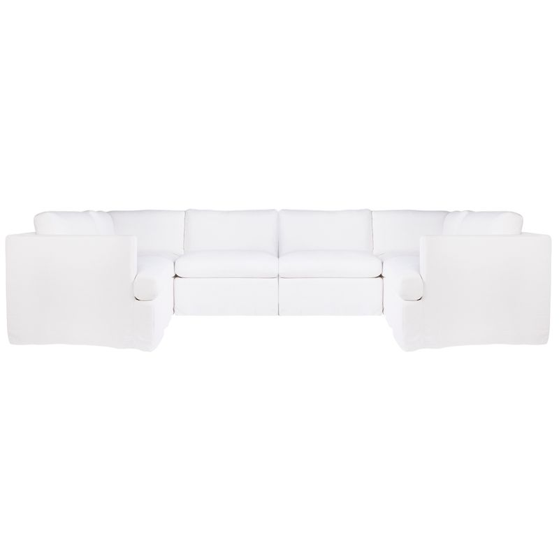 Birkshire Slip Cover Modular Sofa - White Linen Option 5