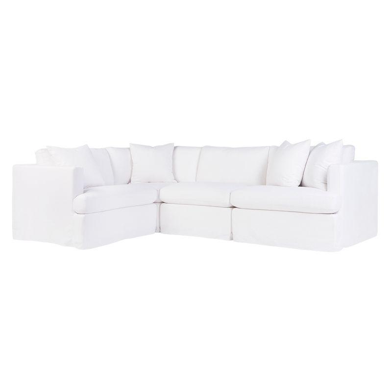 Birkshire Slip Cover Modular Sofa - White Linen Option 2