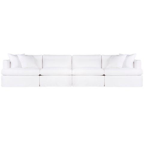 Birkshire Slip Cover Modular Sofa - White Linen Option 4