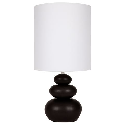 Koa Table Lamp - Black Matte Ceramic