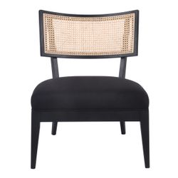 Darcy Rattan Occasional Chair - Black