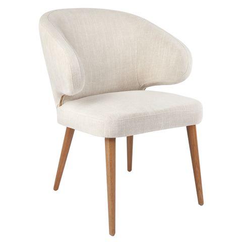 Harlow Natural Dining Chair - Natural Linen